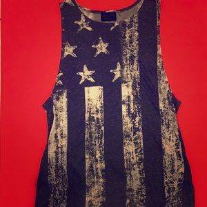 The Classic Vintage American Flag Muscle Tank Top
